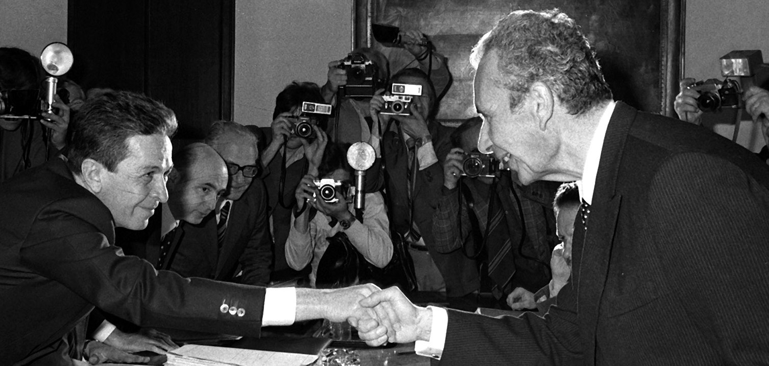 Luigi Berlinguer e Aldo Moro