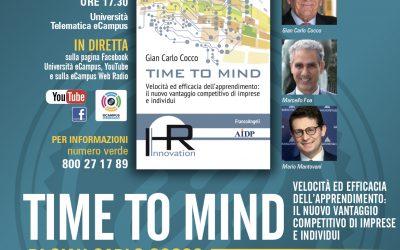 """Webinar """"Presentazione del libro 'Time to mind' di Gian Carlo Cocco"""""""