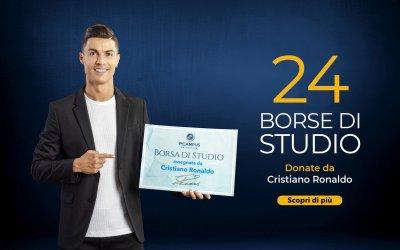 Cristiano Ronaldo sostiene i tuoi studi con 24 borse di studio